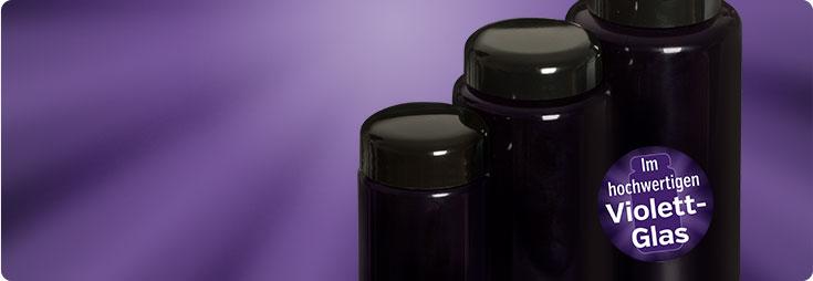 Produkte im Violettglas