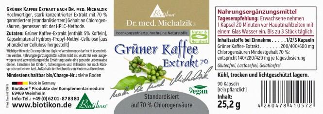 Grüner Kaffee 70