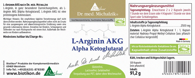 Arginin Alpha Ketoglutarat Biotikon