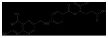 Folsäure-Strukturformel